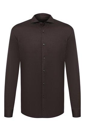 Мужская хлопковая рубашка VAN LAACK коричневого цвета, арт. M-PER-L/180031 | Фото 1
