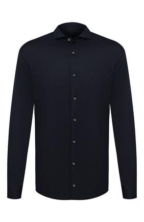 Мужская хлопковая рубашка VAN LAACK темно-синего цвета, арт. M-PER-L/180031 | Фото 1