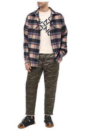 Мужской брюки KENZO хаки цвета, арт. FA65PA5219CL   Фото 2