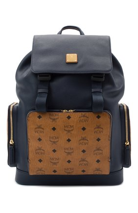 Мужской кожаный рюкзак brandenburg MCM синего цвета, арт. MMK AABG05   Фото 1