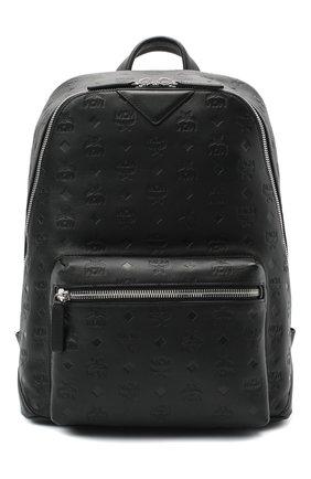 Мужской кожаный рюкзак neo duke MCM черного цвета, арт. MMK ASDK01   Фото 1