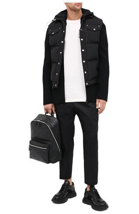 Мужской кожаный рюкзак neo duke MCM черного цвета, арт. MMK ASDK01   Фото 2