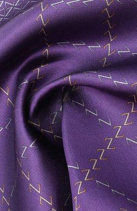 Мужской шелковый платок ZILLI фиолетового цвета, арт. 51200/HANDKERCHIEF | Фото 2 (Материал: Текстиль)