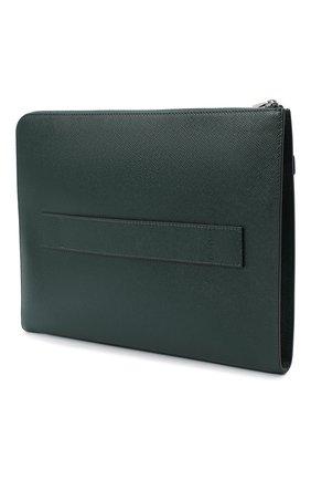 Мужская кожаная папка для документов evoluzione SERAPIAN темно-зеленого цвета, арт. SEV0LMML5940M35E   Фото 3