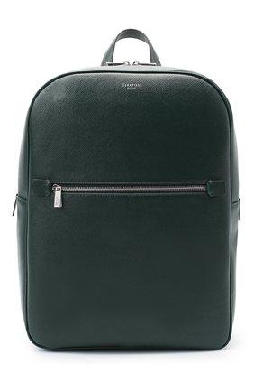 Мужской кожаный рюкзак evoluzione SERAPIAN темно-зеленого цвета, арт. SEV0LMLL7006M31C   Фото 1