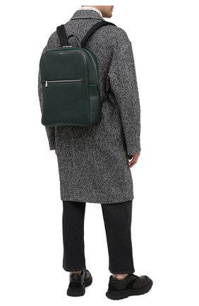 Мужской кожаный рюкзак evoluzione SERAPIAN темно-зеленого цвета, арт. SEV0LMLL7006M31C   Фото 2