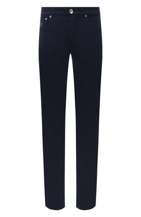 Мужские джинсы BRUNELLO CUCINELLI темно-синего цвета, арт. M268DI1780 | Фото 1
