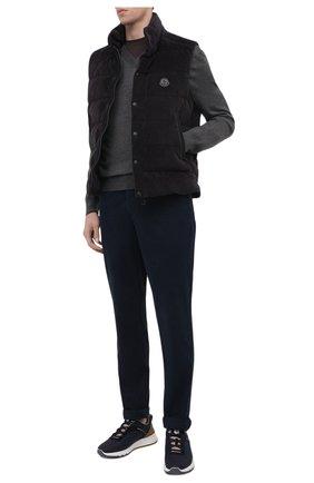 Мужские джинсы BRUNELLO CUCINELLI темно-синего цвета, арт. M268DI1780 | Фото 2