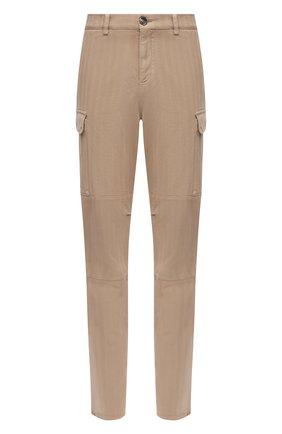 Мужские хлопковые брюки-карго BRUNELLO CUCINELLI темно-бежевого цвета, арт. M269DS2160 | Фото 1 (Материал внешний: Хлопок; Силуэт М (брюки): Карго; Случай: Повседневный; Стили: Кэжуэл)