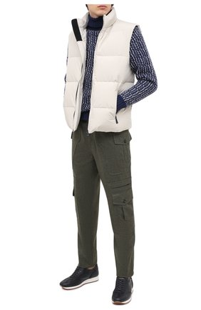 Мужские шерстяные брюки-карго BRUNELLO CUCINELLI хаки цвета, арт. ME226S1970 | Фото 2