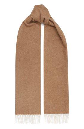 Мужской кашемировый шарф LUCIANO BARBERA бежевого цвета, арт. 124171/85031 | Фото 1