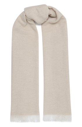 Мужской кашемировый шарф LUCIANO BARBERA светло-бежевого цвета, арт. 124233/59013 | Фото 1