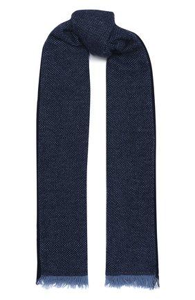 Мужской кашемировый шарф LUCIANO BARBERA темно-синего цвета, арт. 124233/59013 | Фото 1
