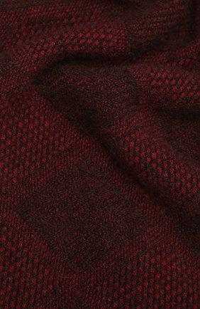 Мужской кашемировый шарф LUCIANO BARBERA бордового цвета, арт. 124235/59015 | Фото 2