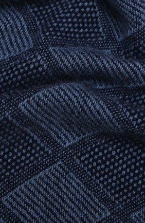 Мужской кашемировый шарф LUCIANO BARBERA темно-синего цвета, арт. 124235/59015 | Фото 2