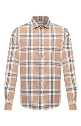 Мужская хлопковая рубашка BRUNELLO CUCINELLI бежевого цвета, арт. MN6953029 | Фото 1