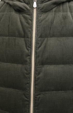 Мужской пуховый жилет BRUNELLO CUCINELLI хаки цвета, арт. MQ4041715   Фото 6