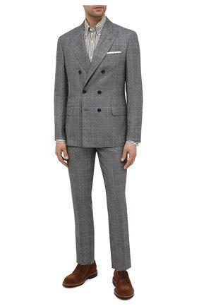 Мужской шерстяной костюм BRUNELLO CUCINELLI серого цвета, арт. ML4877BPZA | Фото 1