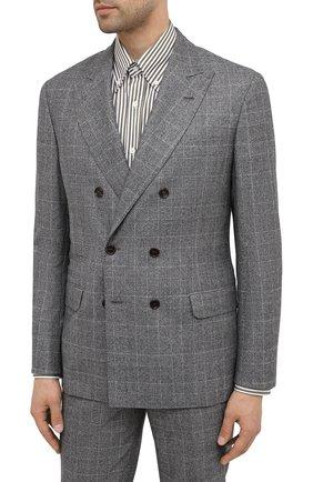 Мужской шерстяной костюм BRUNELLO CUCINELLI серого цвета, арт. ML4877BPZA | Фото 2
