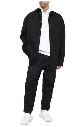 Мужской хлопковое худи DIESEL белого цвета, арт. 00SH9M/0BAZC | Фото 2