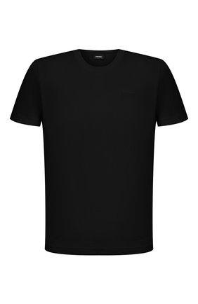 Мужская хлопковая футболка DIESEL черного цвета, арт. A00400/0HAYU | Фото 1