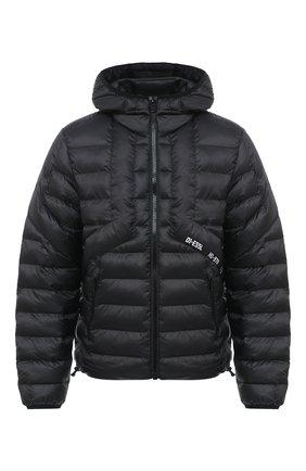 Мужская утепленная куртка DIESEL черного цвета, арт. A00699/0GBAD | Фото 1
