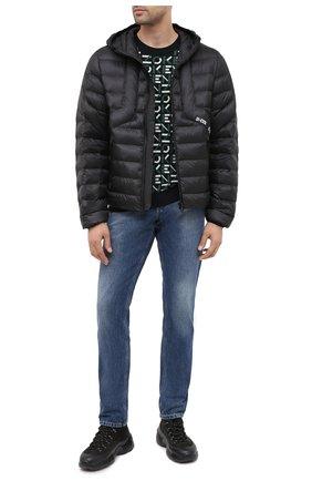 Мужская утепленная куртка DIESEL черного цвета, арт. A00699/0GBAD | Фото 2
