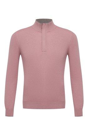 Мужской джемпер из шерсти и кашемира GRAN SASSO розового цвета, арт. 55107/19674 | Фото 1