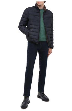 Мужской джемпер из шерсти и кашемира GRAN SASSO зеленого цвета, арт. 55168/19625 | Фото 2