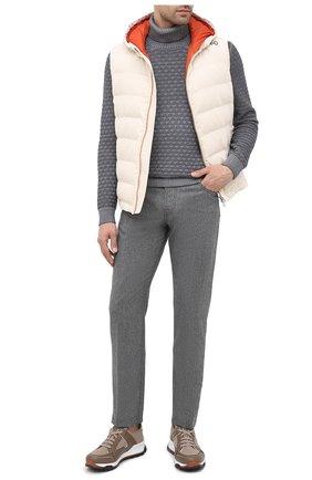 Мужской шерстяной свитер GRAN SASSO серого цвета, арт. 23146/22753 | Фото 2
