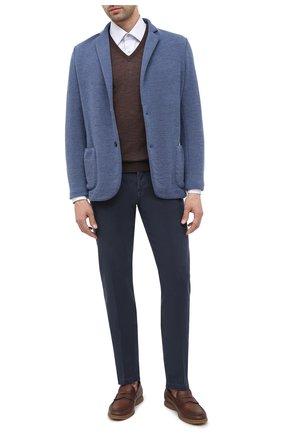 Мужской шерстяной пиджак GRAN SASSO голубого цвета, арт. 57156/17112 | Фото 2