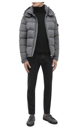 Мужская пуховая куртка montgenevre MONCLER серого цвета, арт. F2-091-1A537-00-54272 | Фото 2