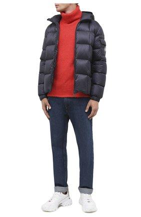 Мужская пуховая куртка charbonnel MONCLER темно-синего цвета, арт. F2-091-1A210-00-C0609 | Фото 2