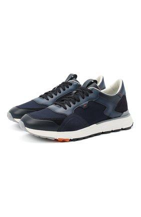 Мужские комбинированные кроссовки SANTONI темно-синего цвета, арт. MBCR21297BGRGJXNU60 | Фото 1
