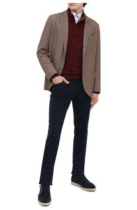 Мужские замшевые ботинки SANTONI темно-синего цвета, арт. MGDT17104GMIESAHU60 | Фото 2