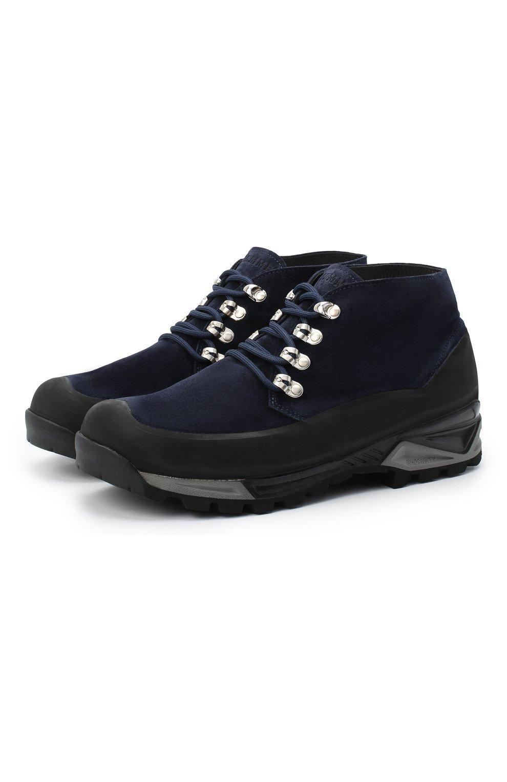 Мужские замшевые ботинки DIEMME темно-синего цвета, арт. DI2001AS01/M   Фото 1