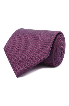 Мужской шелковый галстук BRIONI фиолетового цвета, арт. 062I00/09457 | Фото 1