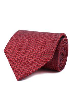 Мужской шелковый галстук BRIONI красного цвета, арт. 062I00/09457 | Фото 1