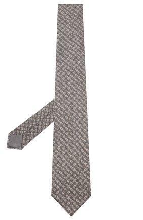 Мужской шелковый галстук BRIONI серого цвета, арт. 062I00/09451 | Фото 2