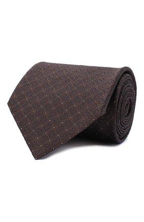 Мужской шелковый галстук BRIONI темно-коричневого цвета, арт. 062I00/09451 | Фото 1