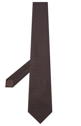 Мужской шелковый галстук BRIONI темно-коричневого цвета, арт. 062I00/09451 | Фото 2