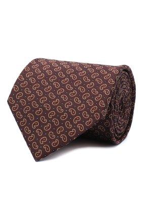 Мужской шелковый галстук BRIONI коричневого цвета, арт. 062I00/09451 | Фото 1