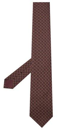 Мужской шелковый галстук BRIONI коричневого цвета, арт. 062I00/09451 | Фото 2