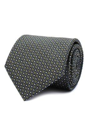 Мужской шелковый галстук BRIONI серого цвета, арт. 062I00/09450 | Фото 1
