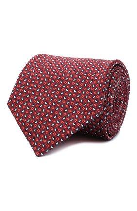 Мужской шелковый галстук BRIONI красного цвета, арт. 062I00/09450 | Фото 1
