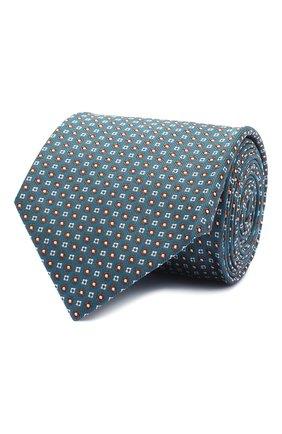 Мужской шелковый галстук BRIONI бирюзового цвета, арт. 062I00/09441 | Фото 1