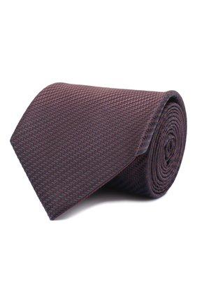 Мужской шелковый галстук BRIONI темно-коричневого цвета, арт. 062I00/09440 | Фото 1