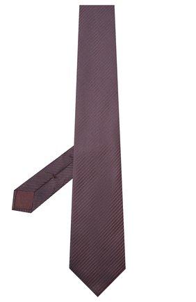 Мужской шелковый галстук BRIONI темно-коричневого цвета, арт. 062I00/09440 | Фото 2