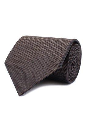 Мужской шелковый галстук BRIONI коричневого цвета, арт. 062I00/09440 | Фото 1