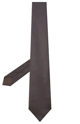 Мужской шелковый галстук BRIONI коричневого цвета, арт. 062I00/09440 | Фото 2